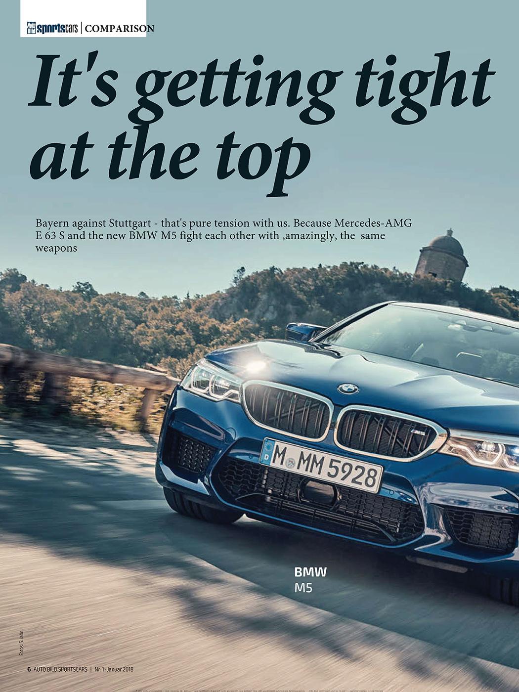 First comparison review: F90 M5 VS E63S AMG by Auto Bild Sportscars